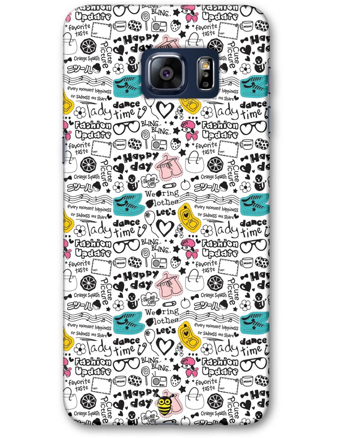 finest selection 7c5cb 0259f Cute Doodle - Samsung Galaxy S6 Designer Mobile Case